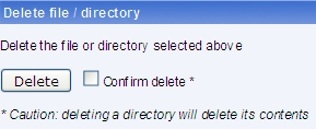 Delete a file or directory